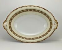 "Vintage Meito China Asama Shape China 11.5"" Oval Vegetable Bowl Gold Trim"