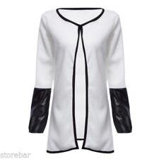 Women Cardigan Loose Sweater Long Sleeve Knitted Open Outwear Jacket Coat Tops