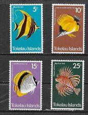 TOKELAU Islands 1975 Fish set MINT NH