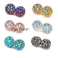 Crystal Round Magnetic Brooch Clasp Hijab Scarf Abaya Muslim Pin Accessories 2X