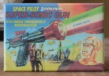 3 Colour Super-Sonic Gun - Fridge / Locker Magnet. Vintage Toy Ray Gun