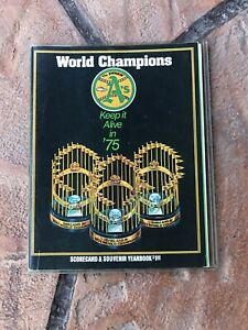 1975 Oakland A's Scorecard & Souvenir Yearbook