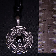 Iron Cross Triskele Pewter Pendant Necklace Charm biker gothic celtic feeanddave