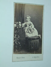JOUET JEU POUPEE photo photographie CDV vers 1870 Maury et Debas Augouleme