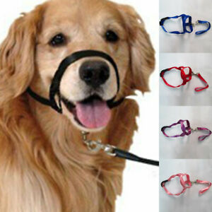 Harness Adjustable Muzzle Leader Belt No Pull Bite Strap Training Dog Mouth Rope