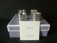 """Wedgwood Vera Wang Set Of Four """"With Love"""" Napkin Rings Brand New Boxed"""