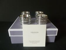 "Wedgwood Vera Wang Set Of Four ""With Love"" Napkin Rings Brand New Boxed"