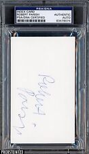 Robert Parish Signed Index Card AUTO PSA/DNA Certified Authentic Stock Photo
