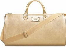 9445a4d1e0b9 NWT MICHAEL KORS METALLIC GOLD WEEKENDER BAG DUFFEL TOTE BAG
