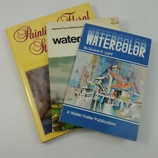 Watercolor Painting Drawing Floral Still Lifes Art Instruction Set of 3 Books