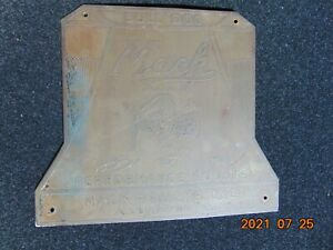 1918 TO 1929 BRASS MACK CHAIN DRIVE TRUCK CAB EMBLEM - PERFORMANCE COUNTS
