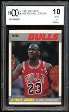 1987-88 Fleer #59 Michael Jordan Card BGS BCCG 10 Mint+