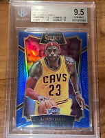💎2015 LeBron James PANINI SELECT BLUE PRIZM #47 /249 BGS 9.5 w/ 2 10 subs PSA
