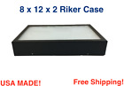 8 x 12 x 2 Riker Display Case Box for Collectibles Jewelry Arrowheads & More