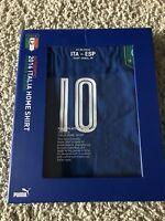 Italy Jersey Authentic Match ITA Vs SPA Puma Player Issue ACTV  with Verratti 10