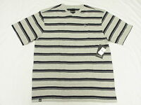 $28 NWT NEW Mens Akademiks T-Shirt Kevin Striped V-Neck Tee Grey 4XL 4XB 4X N126