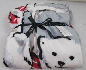 Vera Bradley Plush Throw Blanket Beary Merry NWT