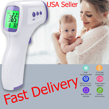 🔥No Touch Infrared Digital Forehead Thermometer Baby Adult Body Temperature Gun