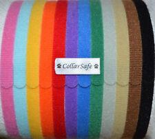 "CollarSafe (12) 3/8"" Puppy ID Litter Bands Collars handmade w/ USA VELCRO® Brand"