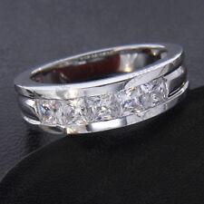 Men's 2 Ct Diamond Real 10k White Gold Engagement Wedding Band Ring