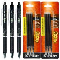 Pilot FriXion Clicker Retractable Gel Ink Pens, Eraseable, F Pt 0.7 mm, Blk Ink