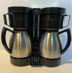 Krups Duo Thek F324 Coffee Maker Machine Dual Double 10 Cup Stainless Steel HTF