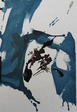ZAO WOU-KI : Composition bleue et noire - GRAVURE originale #1967 #ART CHINOIS