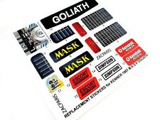 MASK stickers for KENNER M.A.S.K Goliath Stickers Very nice!