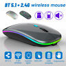 Wireless LED Backlit Gaming Mouse USB Optical Rechargeable 2 Mode for PC Laptop