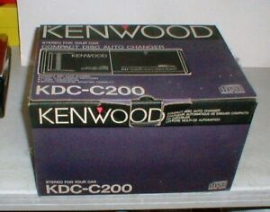 Vintage KENWOOD KDC-C200 10-disc CD Changer in Original Box w/Magazine-Cord-MORE