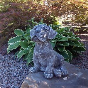 Steinfigur Rottweiler Frostfest Steinguss Hund STAFFORD