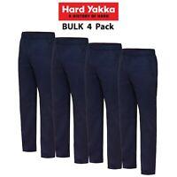 Mens Hard Yakka Elastic Waist Work Pants 4 PACK Truckie Truck Driver Job Y02560