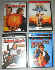 Lot of 4 Dvd Feature Movies Van Wilder Dodgeball School of Rock Goldmember Vgc
