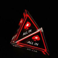 Acrylic Texas Hold'em Poker Chip ALL IN Triangle Poker Card Guard Casino Supply