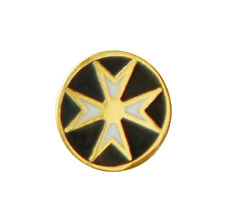 Order of Malta Round Tiny Freemasonry Masonic Pin Badge