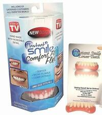 SET FLEXIBLE ULTRA THIN PERFECT INSTANT SMILE TOP TEETH & BOTTOM fix in minutes