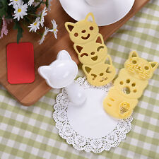Cute Kitty Cartoon Rice Ball Mold Set Bento Sushi Maker Mold Kitchen DIY