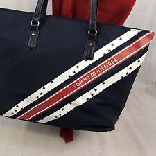 Tommy Hilfiger Logo Shoulder Shopper Designer Bag Purse NWT $108 Spell Out Sack