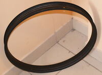 Single wall bicycle rim 58 mm width (26 inch diameter) matt black