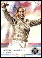 2012 TOPPS OLYMPICS SILVER MARIEL ZAGUNIS FENCING #32 PARALLEL