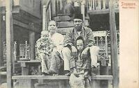 POSTCARD  SINGAPORE  MALAY  FAMILY