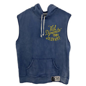 Roots of Fight Mike Tyson Sleeveless Hoodie 2XL Blue Rare!