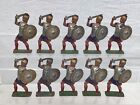 10 Vintage John Hill Lead Toys Soldiers Roman Centurions #428