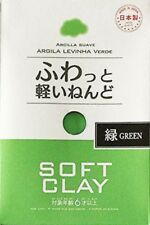 Soft Clay Lightweight Green color DAISO JAPAN fluffy Paper Clay Made in Japan