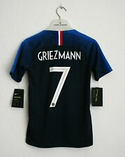 New Kids France Griezmann Jersey World Cup 2018 Nike Soccer 137-147cm Football