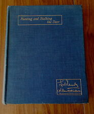 HUNTING & STALKING DEER BY EDWARDS & WALLACE 1927 1ST ED. RED FALLOW & ROE DEER