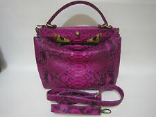 Python real bag Genuine full Leather Snake Skin Tote handbag Purse
