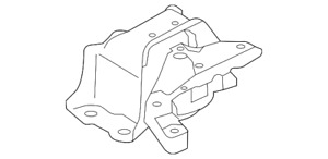 Genuine Passenger Right Front Engine Mount 11210-1HS0A