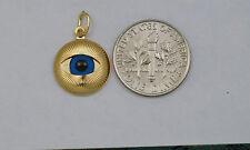 18K gold evil eye charm / pendant