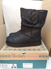 Skechers Keepsakes- Leather-Esque Black Boots - UK 6/EU 39